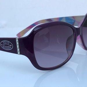 Steve Madden Women Sunglasses Purple Plastic Frame